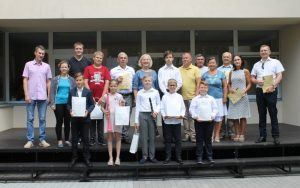 XXVIII respublikinio Juozo Pakalnio jaunųjų atlikėjų pučiamaisiais ir mušamaisiais muzikos instrumentais konkurso laureatų pagerbimas Muzikos mokykloje