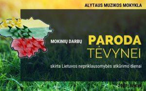 Muzikos mokyklos mokinių darbų paroda, skirta Lietuvos nepriklausomybės atkūrimo dienai